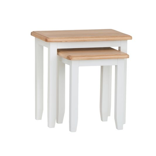 Gloucester White Painted Nest of 2 Tables