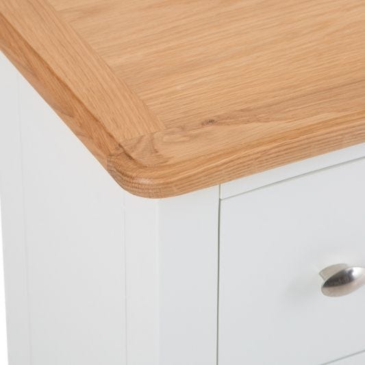 Gloucester White Painted Slim 2 Drawer Bedside Table