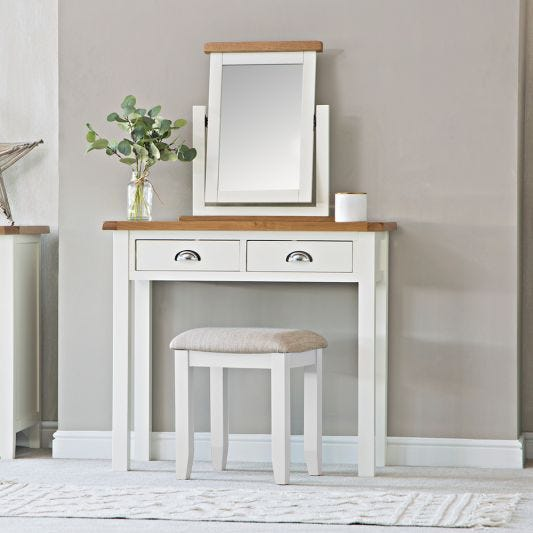 Chester White Painted Oak Dressing Table