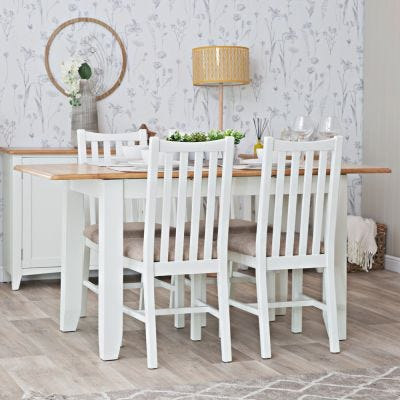 Gloucester White Painted 1.6m Extending Dining Table