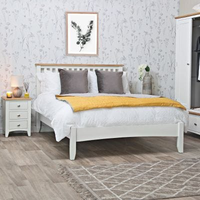 Gloucester White Painted King Size Bed Frame