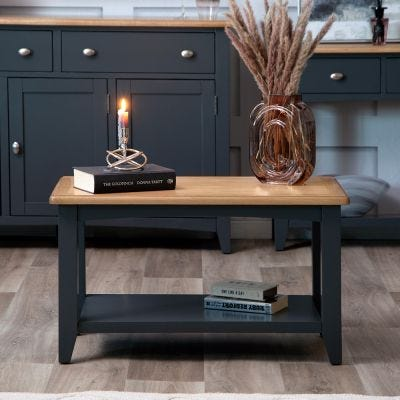 Gloucester Midnight Grey Painted Small Coffee Table