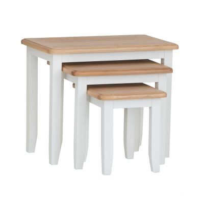 Gloucester White Painted Nest of 3 Tables