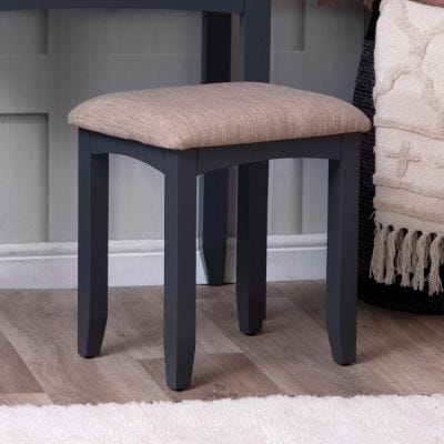 Gloucester Midnight Grey Painted Dressing Stool