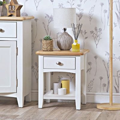 Gloucester White Painted Lamp Table