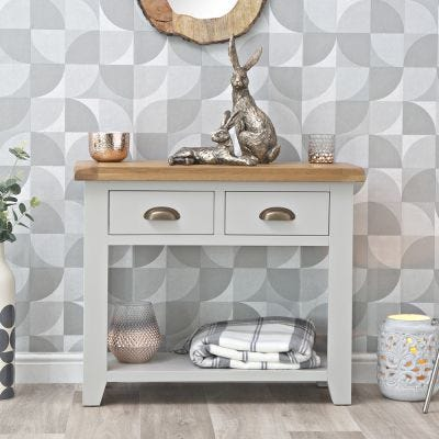 Hampshire Grey Painted Oak Console Table