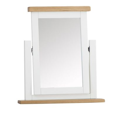 Chester White Painted Oak Dressing Table Mirror