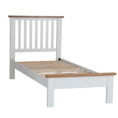 Chester White Painted Oak Single Bed Frame