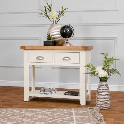 Hampshire Ivory Painted Oak Console Table