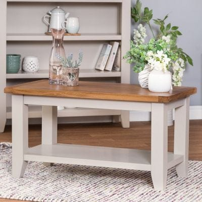 Chester Stone Painted Oak Small Coffee Table