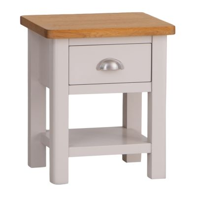 Rutland Painted Oak Lamp Table with Drawer
