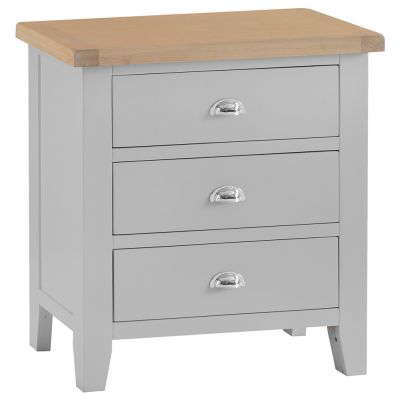 Suffolk Grey Painted Oak Chest of 3 Drawers