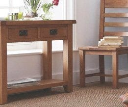 Oak Console & Hall Tables