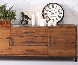 Oak Sideboard & Cupboards