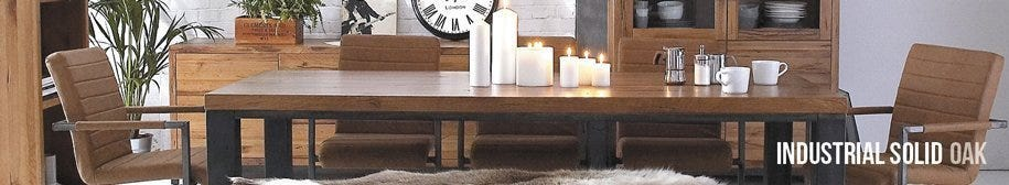 Industrial Solid Oak Collection